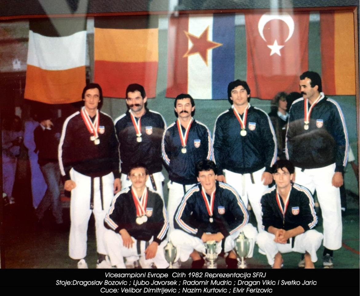 Karate reprezentacija SFRJ na EP u Cirihu, Švajcarska 1982.