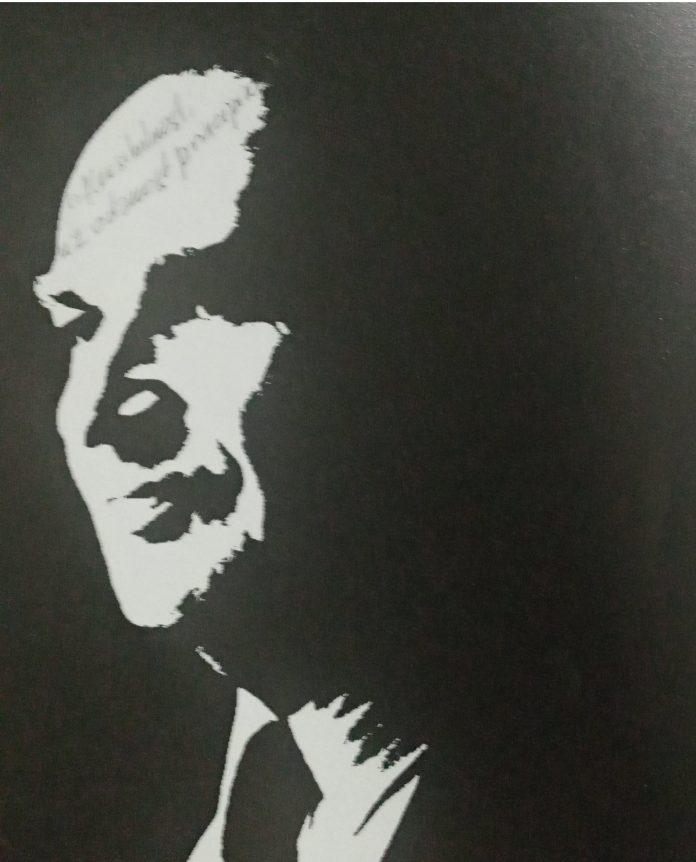 """Alija Izetbegović (Bosanski Šamac, 8. avgusta 1925 – Sarajevo, 19. oktobra 2003) (Slika preuzeta iz knjige """"Izetbegović '95"""", govori, intervju, pisma. Izdavač: Šahinpašić, 1996.)"""