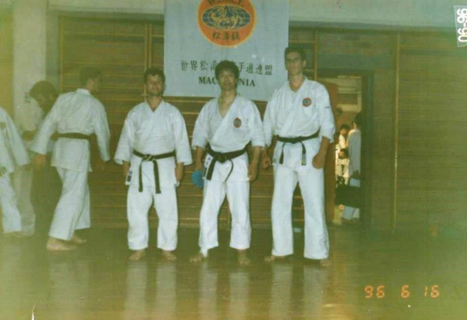 Samir Bačevac i Hitoši Kasuja (s desna na lijevo). Seminar u Ohridu 1996. godine.